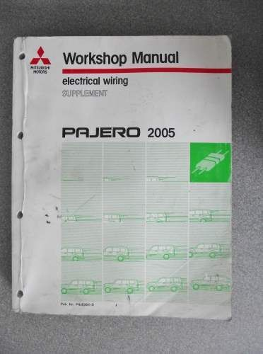 Details About Mitsubishi Pajero Electrical Wiring Manual