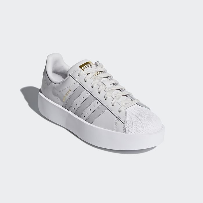 0b3089d3 Superstar Bold Platform Shoes Grey 9.5 Womens | Products in 2019 ...