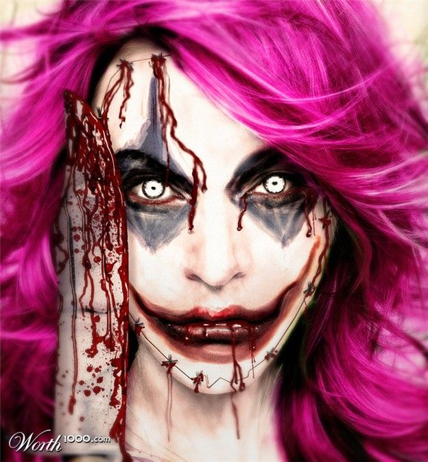 evil celebrity clowns worth1000 contests crazy halloween