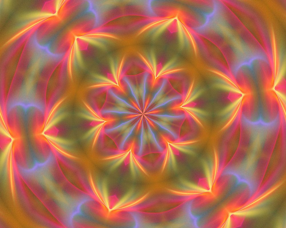 Psychedelic Flowers Kram666 Deviantart Inspiration Abstract Floral Painting