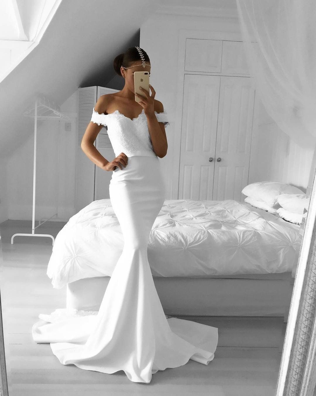 Off The Shoulder Mermaid Evening Dresses Lace Appliques Mermaid Dresses Wedding Dresses Lace Mermaid Prom Dresses,Cheap Evening Dresses For Weddings