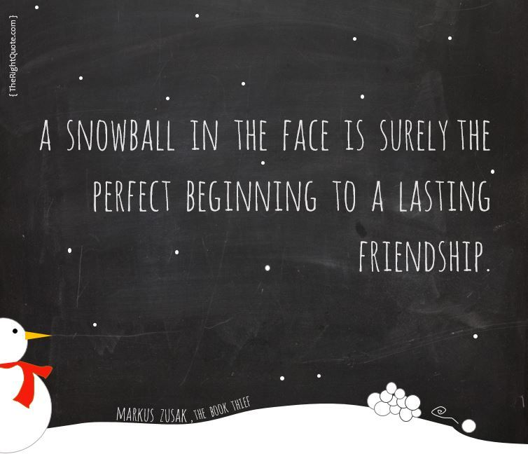 Quotes About Lasting Friendship Glamorous A Snowball In The Face Is Surely The Perfect Beginning To A