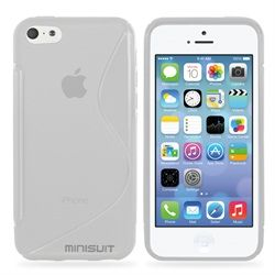 S Shape Case Cover for iPhone 5C Lite 2013 Model (Clear)