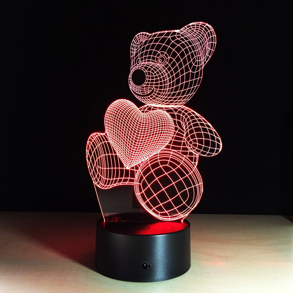 Teddy Bear Love Baby Night Light Night Light Lamp