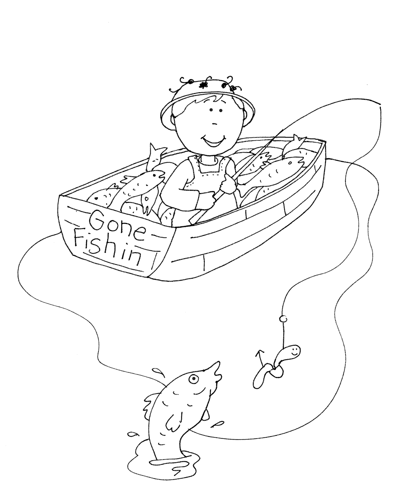 Gone Fishin Png 1273 1600 Fathers Day Coloring Page Digi Stamps Digital Stamps Free