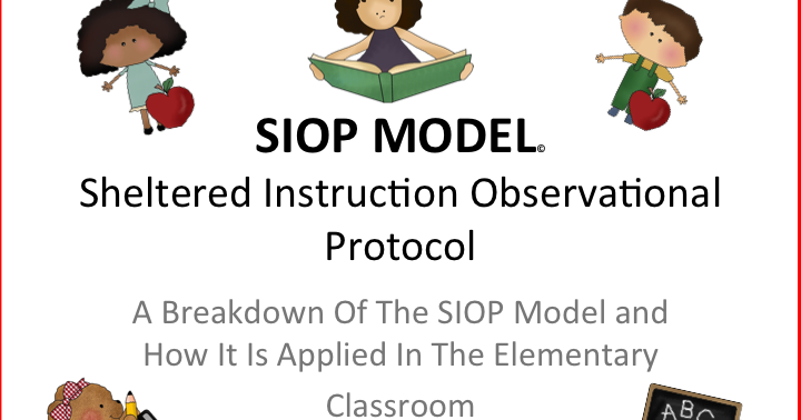 Sheltered Instruction Siop Model Features One To Thirty Pinterest