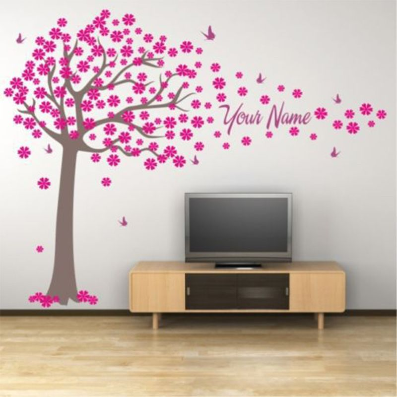Tree And Butterflies Decals Custome Girl Or Boy Name Wall Stickers Home Decor Baby Bedroom Wall Decoration Indoor Wall Art Mural Aliexpress Affiliate S Buya 装飾