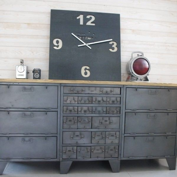 buffet industriel ancien id e rangement pinterest. Black Bedroom Furniture Sets. Home Design Ideas
