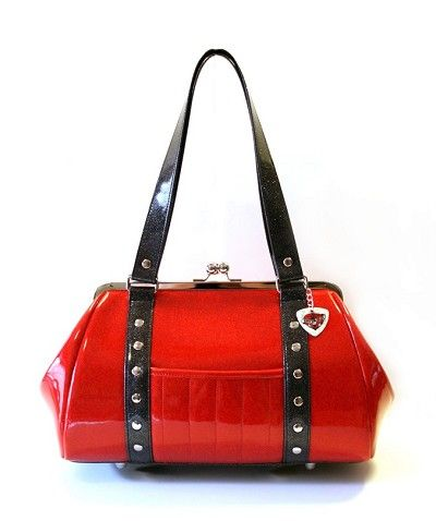 Hold Fast Handbags Rockabilly Cherry Red Purse