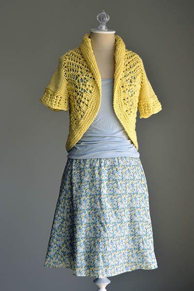 Sunshine Shrug Pattern Knit Womens Shrugsboleros Pinterest