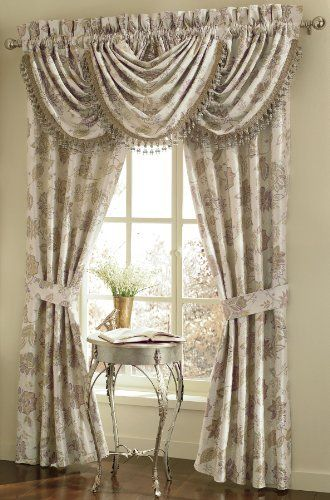 Croscill Home Fashions Garden Mist Waterfall Valance Lavender 48 Inch By 33 Inch By Crocsill 39 99 One Window