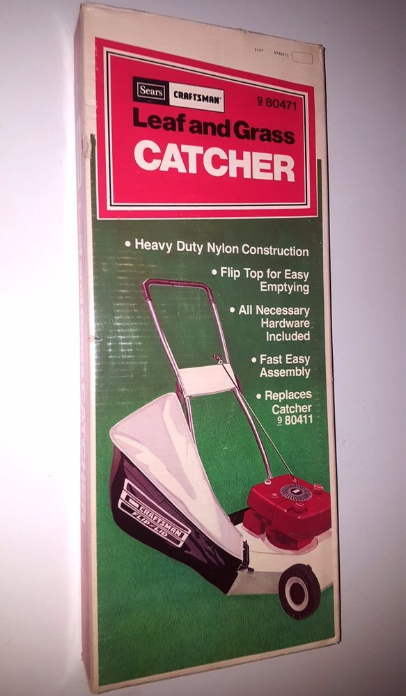 1978 Sears Flip Lid lawn mower leaf and grass catcher