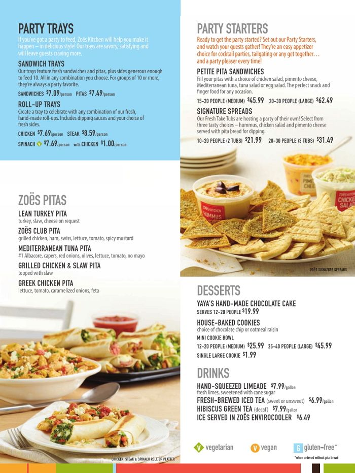 Zoes Kitchen Menu Nc2 Base Cat Nc2 Pp Zoes Kitchen Meal Time Appetizers Easy