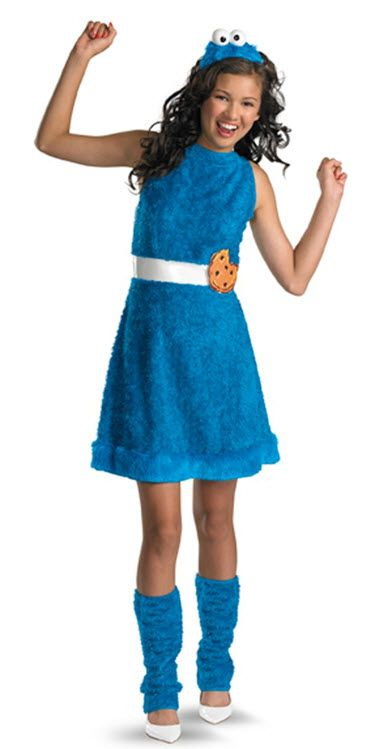 Chloe - Cookie Monster Costume Costumes Pinterest Monster - cute teenage halloween costume ideas