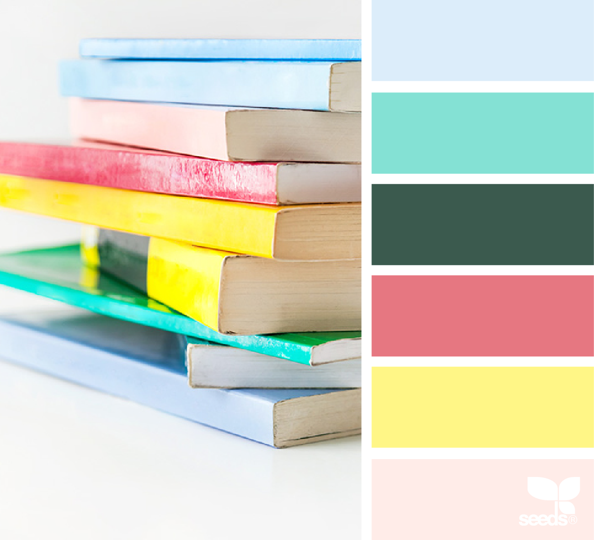 Book color palette - Color Palette Blue Green Red Yellow Light Pink Color Scheme Color Inspiration Today S Inspiration Image For Color Book Is By