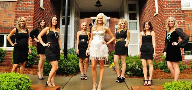 I Love The Whole Bride In White Bridesmaids Friends Black For Bachelorette Party