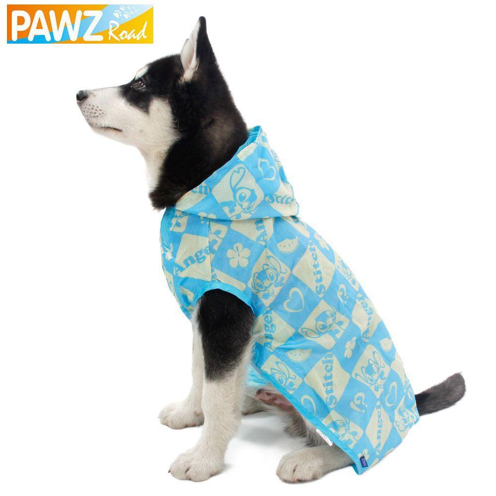 Pet Raincoat Blue Print Pattern Big Dog Cat Clothes Dog Rain Coat Pet Jacket Waterproof Material Coat Size L Xl 2xl 3x Dog Raincoat Small Dog Coats Pet Jackets