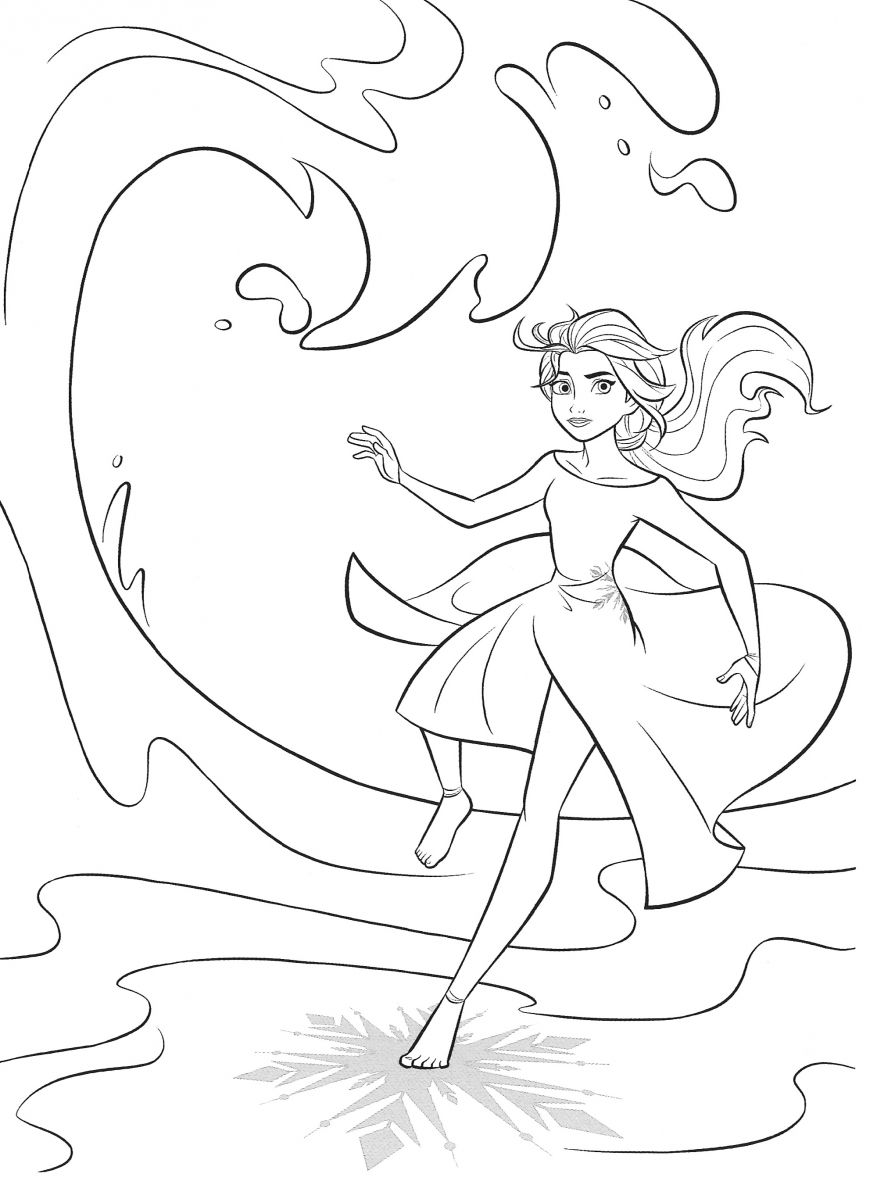 Frozen 14 free coloring pages with Elsa in 140140  Elsa coloring