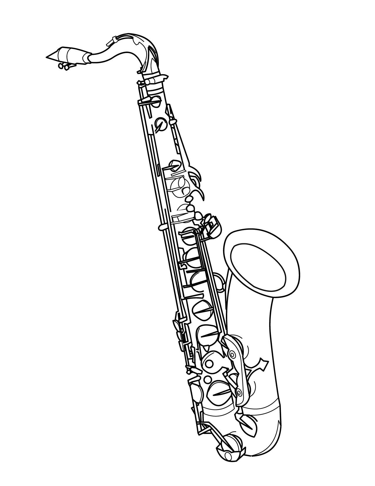tenor saxophone drawings yahoo image search results tees