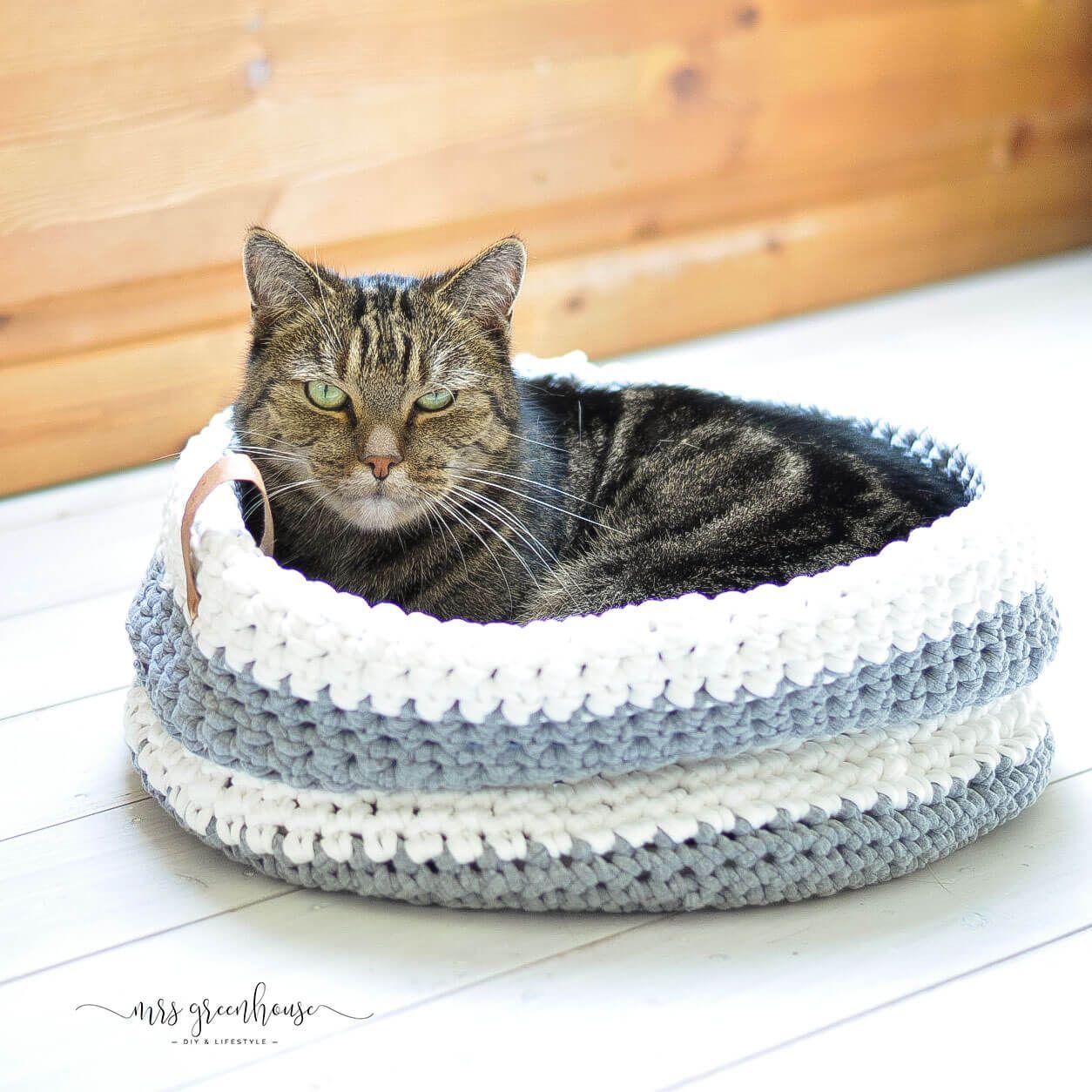 Photo of Gehäkelter Katzenkorb mit Schritt für Schritt Anleitung – mrsgreenhouse