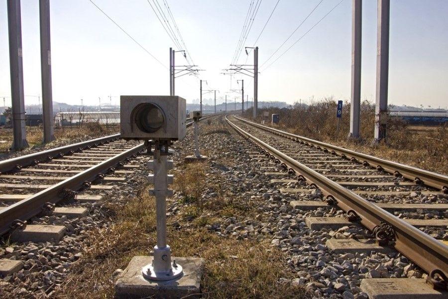 Scenery with railroad, South Korea