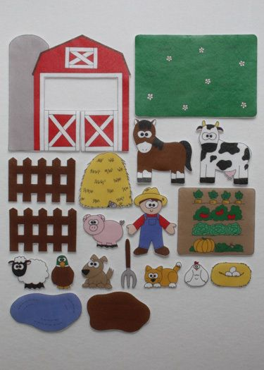 On Mcdonald S Farm Print Play Felt Figures