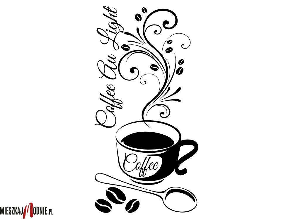 Naklejka Lub Szablon Malarski Z Serii Do Kuchni W10021 Glassware Coffee Tableware