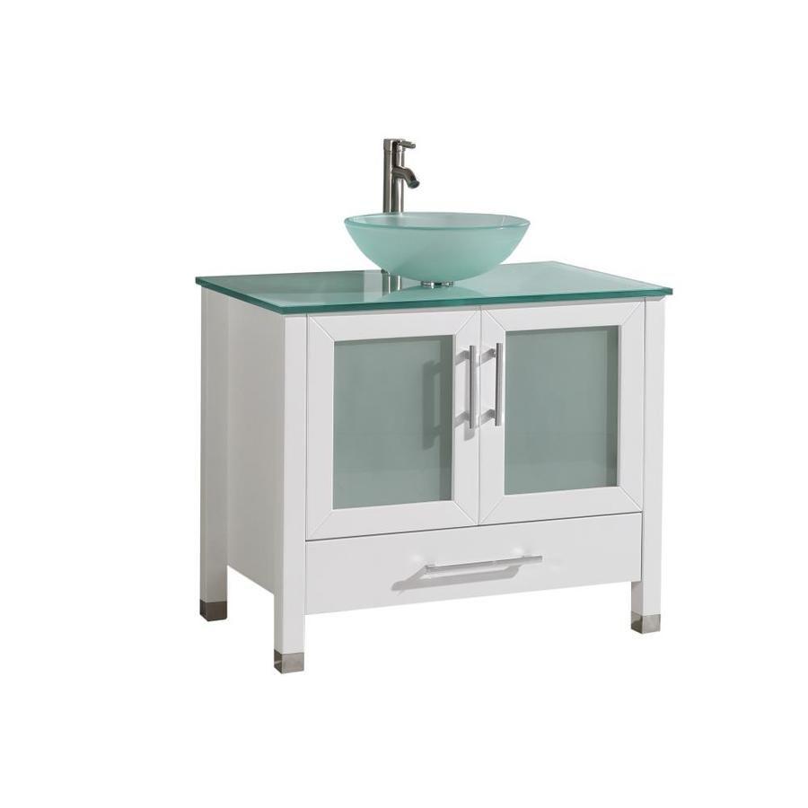 Mtd Vanities 36 In White Single Sink Bathroom Vanity With Painted
