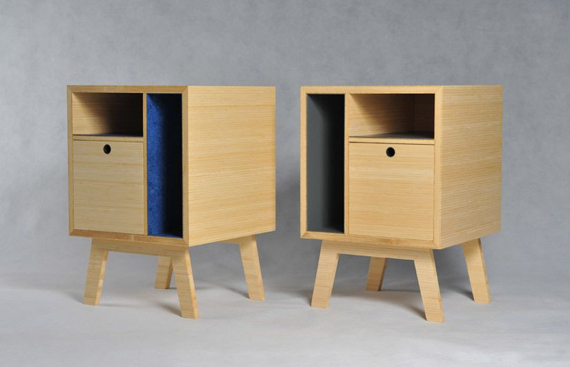 Simple bedside tables by scott clements furniture for Plywood bedside table