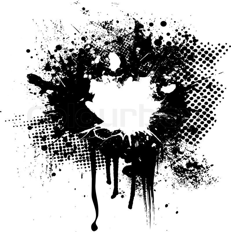 1170906 Halftone And Ink Splat Abstract Image With Room For Your