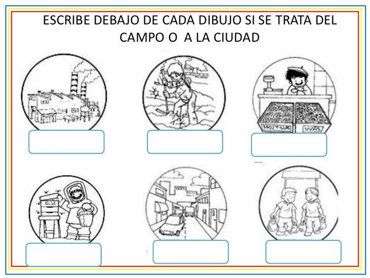 Campo Y Ciudad Para Primer Grado Buscar Con Google Primeros Grados Actividades De Geografia Actividades Para Primaria