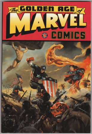The Golden Age Of Marvel Comics, Volume 1 - October 1997, First Print,  As New-, Vols. 1 & 2 for $45 - cover painting by Ray Lago