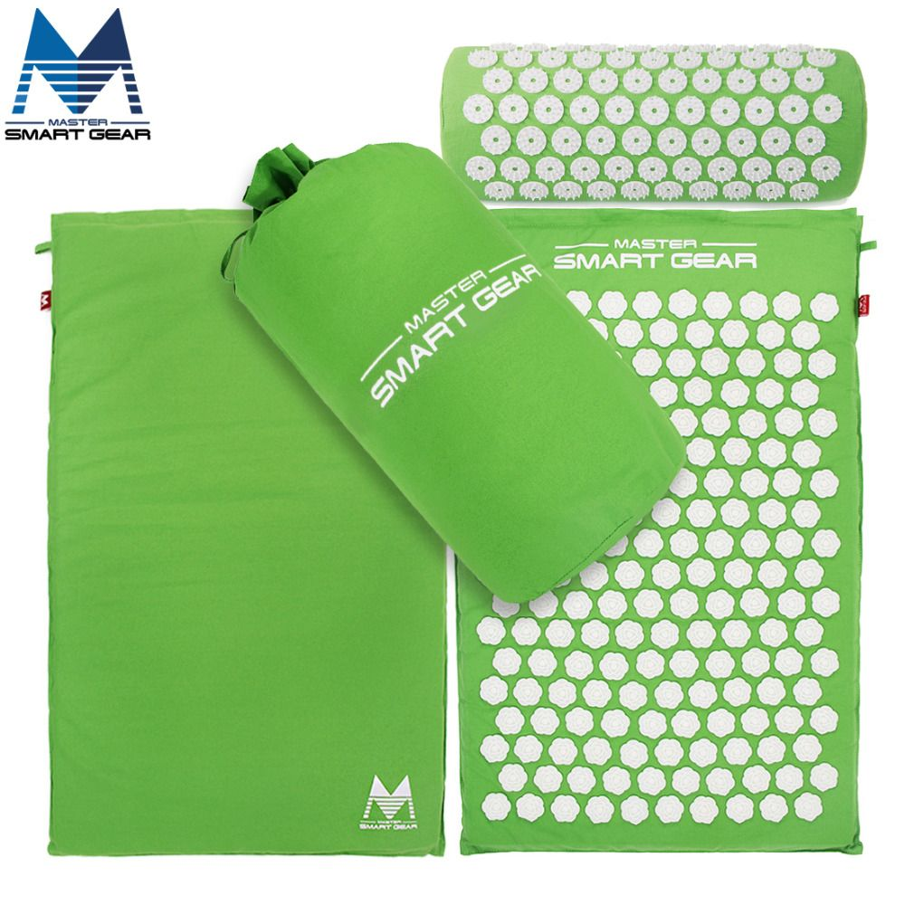 Yoga mat acupressure mat and pillow set back body massage relieve