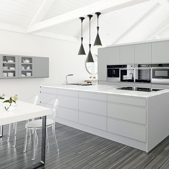 White kitchens for every style and budget kitchens pinterest moderne k che k chen design - Bodenfliesen hochglanz ...