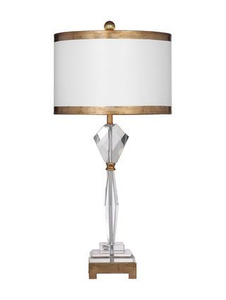 Adel table lamp by bassett mirror crystal gold leaf gilt