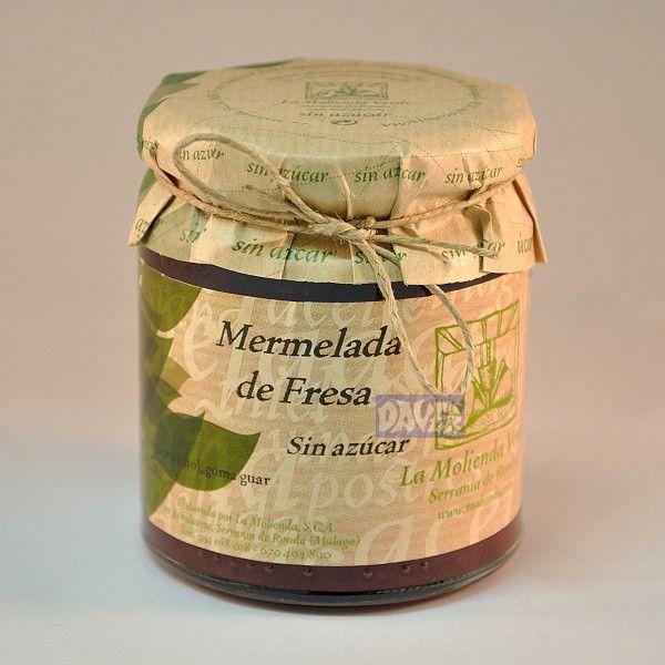 #Mermelada de #Fresa -sin azucar- La Molienda - Productos Daver S.L.