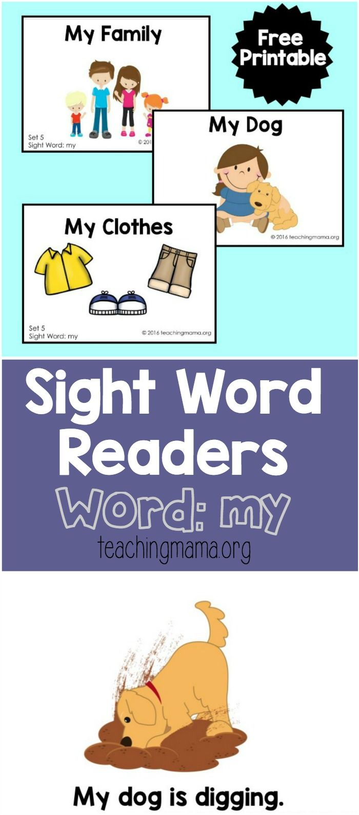 Sight Word Readers for the Word My | Sight words | Pinterest | Kind
