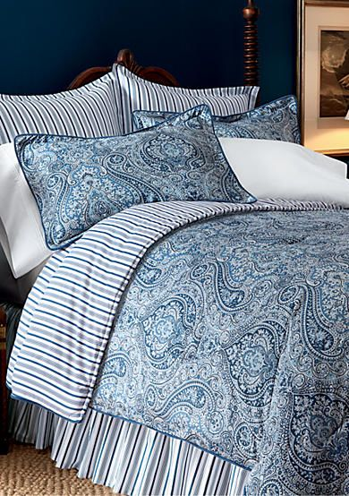 Lauren Ralph Lauren Townsend Paisley Bedding Collection Paisley Bedding Blue Paisley Bedding Home