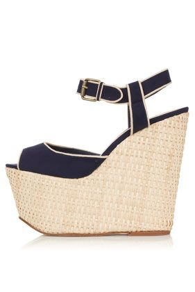 WIDGIT Raffia Hi Wedges  #Shoes - I have these and they are super cute! My new favorites!