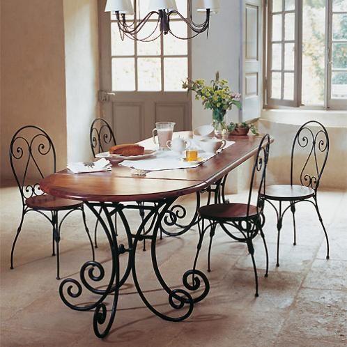 Table console demi lune en fer forg et bois de sheesham massif l 90 cm dining rooms - Console demi lune en fer forge ...