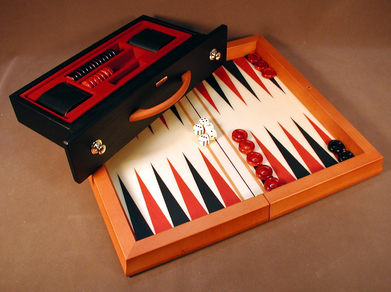 Luxury Backgammon Set | Wood Attache Case | Boards for