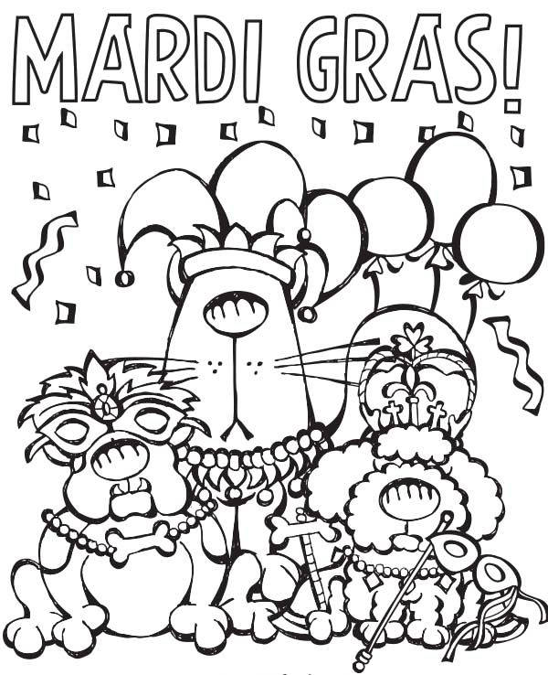 Celebration Mardi Gras Coloring Pages Mardi Gras Mardi Gras