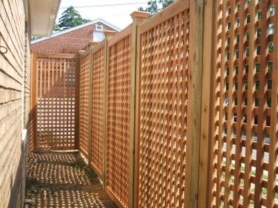 Eastern White Cedar Wood Lattice Wood Fence boards, it is the highlight of  any fence - Eastern White Cedar Wood Lattice Wood Fence Boards, It Is The