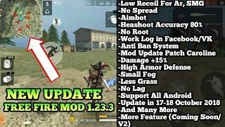 NEW UPDATE] FREE FIRE MOD 1 23 3 | No Recoil, Damage +15%, High