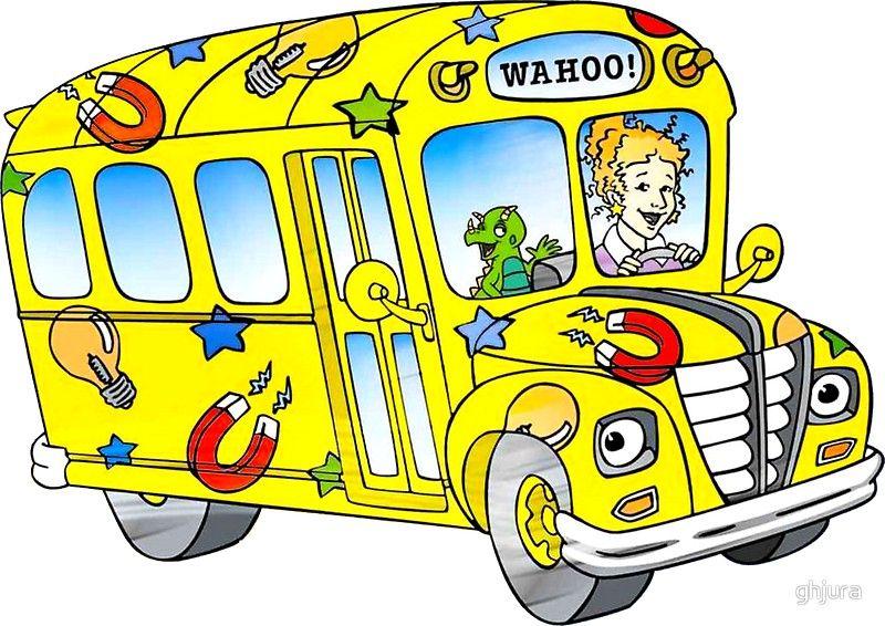 Amoeba Chiffon Top Magic School Bus Characters Magic School