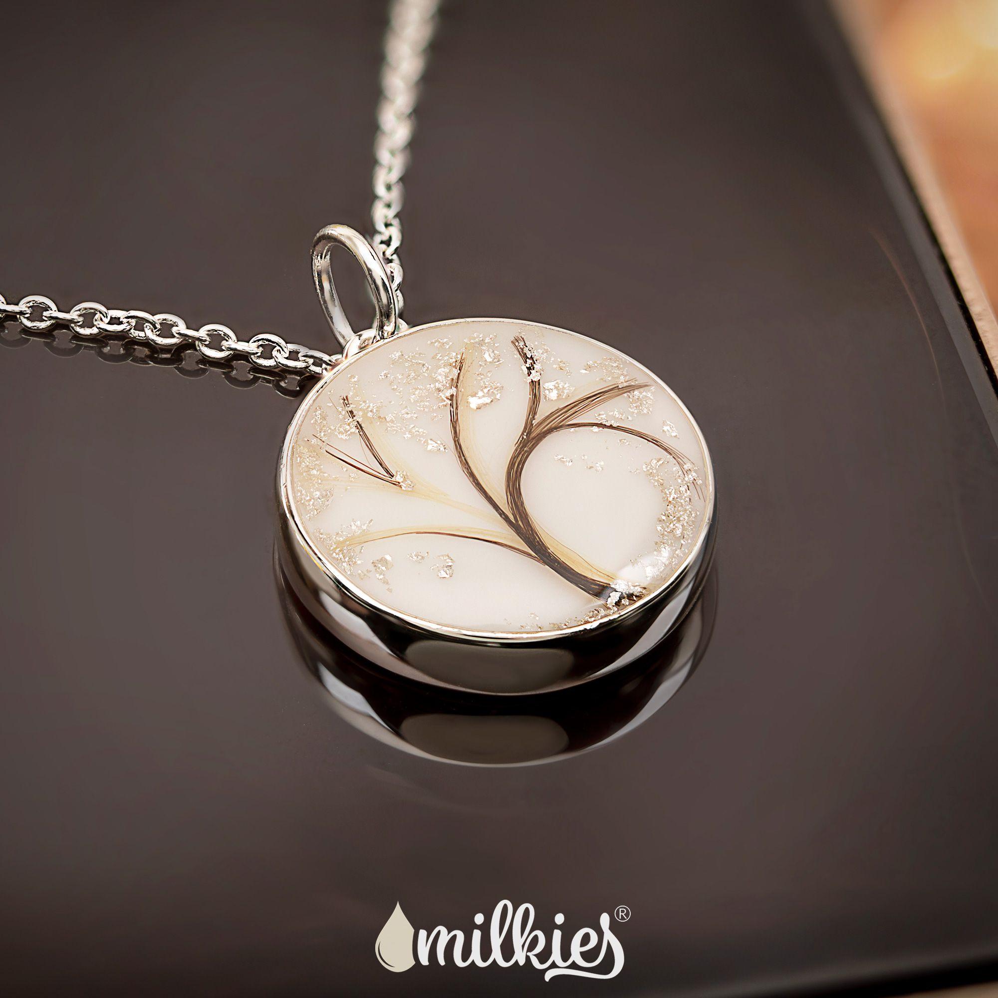 Butterfly breast milk pendant