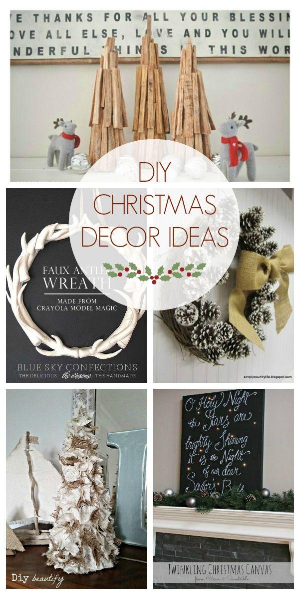DIY Christmas Decor Ideas (Link Party Features DIY Christmas