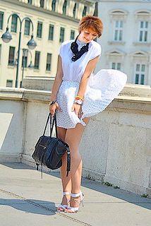 short dress windy day