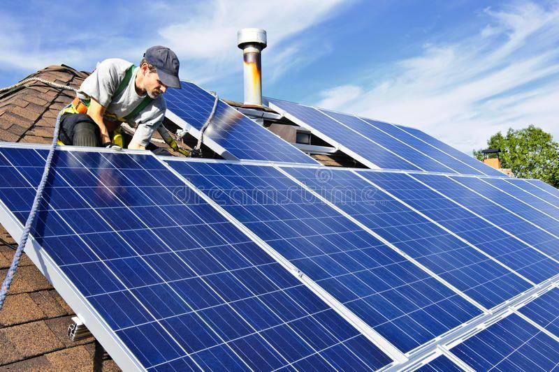 Solar Panel Installation Man Installing Alternative Energy Photovoltaic Solar P Sponsored Man Install Solar Panels Solar Installation Best Solar Panels