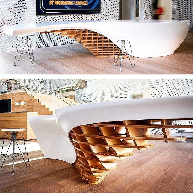 Interior Design Furniture: The SLO_Gen Communal Table In Gensler's Low Angeles Office